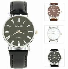 Quartz (Battery) Faux Leather Stainless Steel Wristwatches