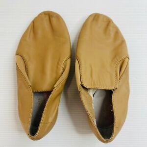 Bloch Jazz Ballet Shoes Size 2 Tan Leather Dance Dancing Slip On
