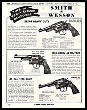 1954 Smith & Wesson .38/44 Heavy Duty.1950 Military .45 Army Revolver Ad