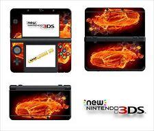 SKIN STICKER AUTOCOLLANT - NINTENDO NEW 3DS - REF 132 VOITURE FLAMME