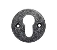 Plain Round Pewter Euro Escutcheon Key Hole
