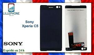 Ecran LCD vitre tactile pour Sony Xperia C5 Ultra noir E5506