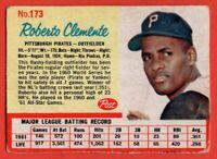 1962 Post #173 Roberto Clemente VG-VGEX WRINKLE HOF Pittsburgh Pirates FREE S/H