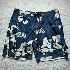 New listing Speedo Swim Trunks Adult Extra Large Blue Floral Lined Bathing Suit Shorts D2
