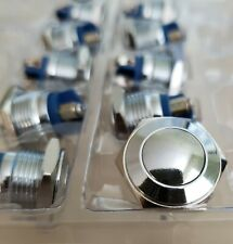 Push Button Momentary Push Switch All Metal Chrome Or Polished 16mm