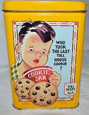 NESTLE CHOCOLATE TOLL HOUSE TIN COLLECTORS TIN WITH INSERT
