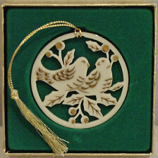 Lenox China 12 Days Of Christmas Ornament 2 Turtle Doves New In Box