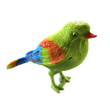 Chirping Singing Bird Sound Voice Control Activate Plastic Funny Kids Toy Gift