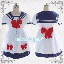 Sailor Moon uniform sweet Lolita Dress daily wear Girl's Blue Sailor Big Bow Dre