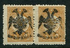 Albania, Albanien, 1913 Overprint Scott 4, Michel 4 Mint* VF Pair Genuine