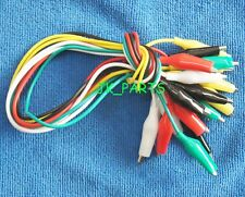 10pcs Double-ended Crocodile Clips Cable Alligator Jumper Wire Test Leads 50cm