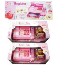 Mini Supermarket Till Kids Cash Register Toy Set Child Girl Shop Role Play Pink