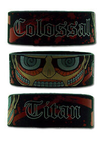 **Legit** Attack on Titan SD Colossal Titan Authentic PVC Wristband #54059
