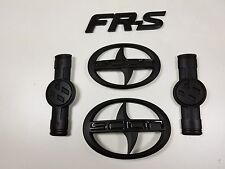 SET of 5 SCION FR-S black front, rear and side emblems Fast and Free Shipping