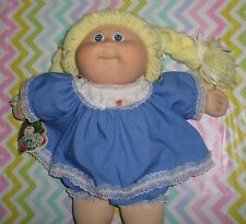 Cabbage Patch Kids Original 1985 Tsukuda Japane Girl Lemon Yellow Braids Dimple