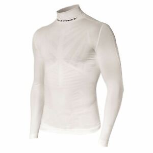 WP4 Cycling Long Sleeve BASE LAYER in White. Made in Italy by Outwet