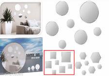 Quadratische Deko-Spiegelfliesen fürs Wohnzimmer