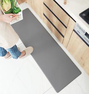 8MM Non-Slip Home Kitchen PU Door Mat Waterproof Floor Rug Carpet Thick Soft  a