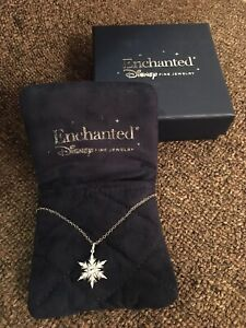 Disney Enchanted Frozen Diamond Snowflake Necklace