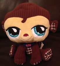 """Hasbro  Littlest Pet Shop Vip Monkey Soft Toy With Tag  9"""" Sitting"""