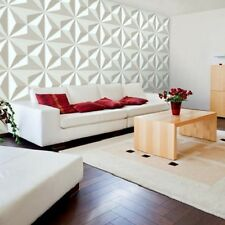 3D Wall Panel Diamond 12 Tiles 32sqft Paintable Home Decoration EcoFriendly