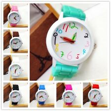 1pcs Candy Color Silica Gel Quartz Wristwatch Student Pencil Pointer Watch