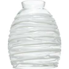 "24-Westinghouse 4-5/8"" D Clear White Rope Pendant Glass Light Shade 81314"