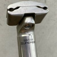 Vintage SunTour Superbe Seatpost 27.2 Road Seat Post Micro Adjust 2 Bolt  D5