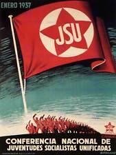 WAR PROPAGANDA SOCIALIST UNITY PARTY REPUBLICAN SPANISH CIVIL SPAIN PRINT 2764PY