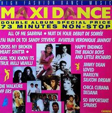 MAXI DANCE - HIGH FASHION DANCE MUSIC - CARRERE - (2) LP SET - FRANCE- BEACHBOYS