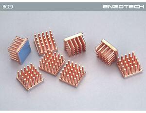 Enzo Tech BCC9  Low Profile Copper Heatsinks ATI/Nvidia (8pcs/Pack) (BMR-C1L)