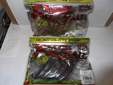 2 Packs of Strike King Rage Tail Shad Watermelon Red and Gold Bling 5 per pk