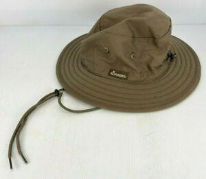 SLOGGERS MEN CLASSIC 100% COTTON UPF 50+ MAX SUN PROTECTION DARK BROWN SUN HAT!