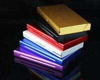 Elegant Thin Slim Aluminum Wiredrawing Cigarette Case Box