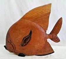 Folk Art Hand Carved Wood Fish Mount,Decoy,Wall Hanger