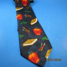 DINO ROMARO Handmade Neck Tie Teacher Theme #mt426