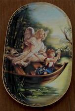 Gorgeous Guardian Angel Collector Plate, Sicher auf dem Wasser, 1995 Vgc