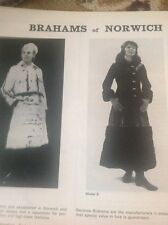 Ephemera Advert 1970 Brahams Of Norwich Fashion