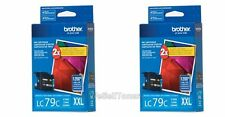 2x Brother LC79C XXL Cyan Ink Cartridge LC-79 Genuine New Sealed