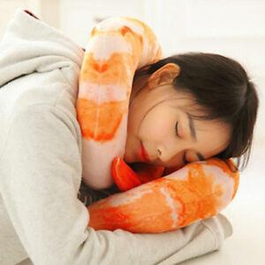 40CM Shrimp Prawn Meat Pillow Plush U-shape Type Neck Cushion Dolls Toys Funny