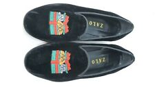 ZALO Velvet Smoking Loafer Flats Womens dog cat black Size 9 run small 8 actual