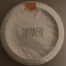 NEW & SEALED Rae Dunn Set 'THANKFUL' Dessert Paper Plates