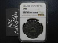 NGC Mexico 1836/1 Overdate 8 Reales Durango Do RM Mint Silver Coin Scarce VF25