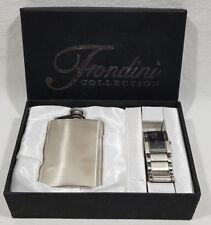 Fondini Collection Quartz Watch & Stainless Steel Flask 3fl oz. Set NEW