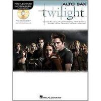 Instrumental Play Along Twilight Also Sax Book CD Sheet Music Easy Beginner S79