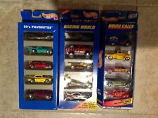 NEW Hot Wheels Gift Pack of 5 House Calls 50's Favorites Racing World LOT of 3