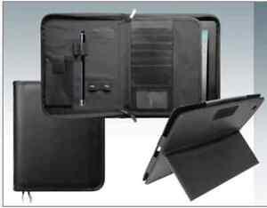 Leather Portfolio Folder + includes a Leather detachable iPad Stand,  SALE!