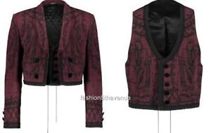Dolce & Gabbana Runway Crop Blazer Jacket + Vest IT48 Us38 RRP2900GBP New