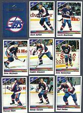 1990-91 Panini NHL Winnipeg Jets Team Set, Hawerchuk, Numminem, etc.(15)