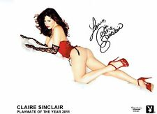 "Claire Sinclair Signed 8""x10"" Photo - Playboy PMOY 2011 #01"